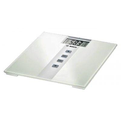 Весы Bosch PPW3330 (PPW3330)Весы Bosch<br>электронные, стеклянная платформа, нагрузка до 180 кг, очень точное измерение, вычисление излишков жировой ткани, определение массовой доли воды, запоминание данных пользователя<br>