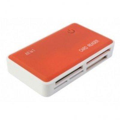 Картридер PC PET CR-217COG USB 2.0 (CR-217COG)Картридеры PC PET<br>Устройство чтения карт памяти PC PET CR-217COG USB 2.0 SDHC/CF/XD/MS/TF/M2 (24-in-1) Оранжевый<br>