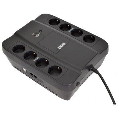 Источник бесперебойного питания Powercom Spider SPD-650U (688275)Источники бесперебойного питания Powercom<br>SPD-650U Spider 650VA/390W USB,AVR,RJ11,RJ45 (4+4 EURO output)<br>