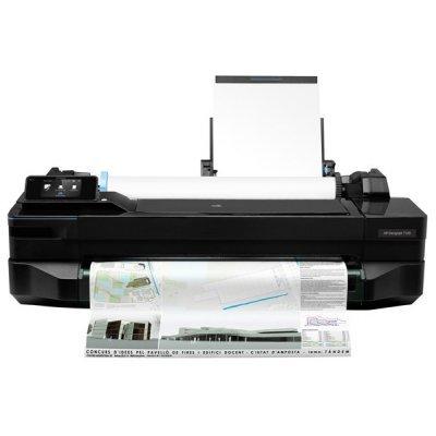 Плоттер HP Designjet T120 (CQ891A) (CQ891A)Плоттеры HP<br>HP Designjet T120 ePrinter (24/610mm, 4 colors, 256Mb, устройство автоматической полистовой подачи, рулонная подача, автоматический резак, USB/LAN/WiFi)<br>
