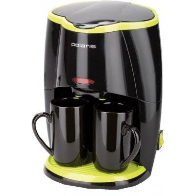 Кофеварка Polaris PCM0210 черный/салатовый (PCM0210) кофеварка polaris pcm 1211 черный салатовый