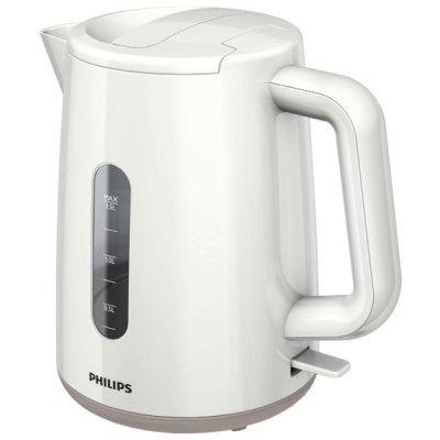 Электрический чайник Philips HD9300 (HD9300)Электрические чайники Philips<br>чайник, объем 1.5 л, мощность 2400 Вт, закрытая спираль, установка на подставку в любом положении, пластиковый корпус, вес 0.934 кг<br>
