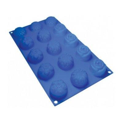 Форма для выпечки Marmiton 16004 (MAN16004)Формы для запекания Marmiton<br>Цветочки, 15 ячеек<br>