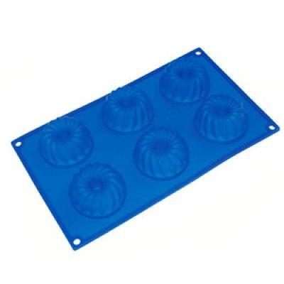 Форма для выпечки Marmiton 16024 (MAN16024)Формы для запекания Marmiton<br>Кекс мини с отверстием, 6 ячеек<br>