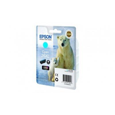 Картридж (C13T26324010) EPSON для XP600/7/8_XL голубой (C13T26324010)Картриджи для струйных аппаратов Epson<br>I/C (c) XP600/7/8_XL<br>