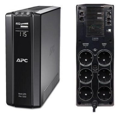 Источник бесперебойного питания APC by Schneider Electric Power Saving Back-UPS Pro 1200, 230V, CEE 6/3 (BR1200G-RS) electric apc by schneider electric toolless cable management rings qty 100