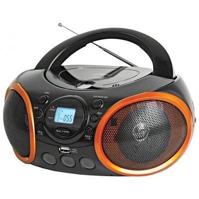 Аудиомагнитола BBK BX100U черный с оранжевым (BX100U черный с оранжевым)Аудиомагнитолы BBK<br><br>