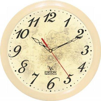 Часы настенные Вега П 1-14/7-97 (П 1-14/7-97)Часы настенные Вега <br>Тип механизма Кварцевые Материал корпуса Пластик Ход Плавный Размеры 290х290х30мм<br>