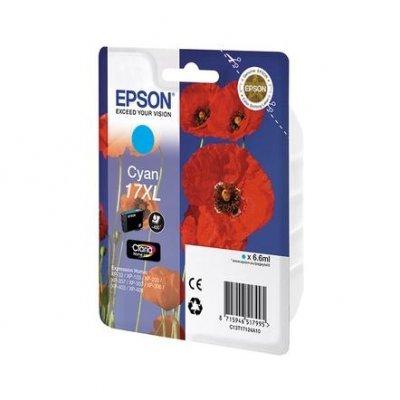 Картридж (C13T17124A10) Epson T17124 для Expression Home XP103/203/207 голубой (17XL) (C13T17124A10)Картриджи для струйных аппаратов Epson<br>для Expression Home XP103/203/207<br>