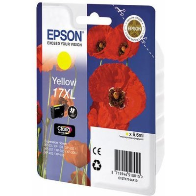 Картридж (C13T17144A10) Epson T17144 для Expression Home XP103/203/207 желтый (17XL) (C13T17144A10) epson expression home xp 203