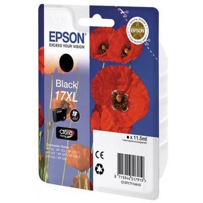 Картридж (C13T17114A10) Epson T17114 для Expression Home XP103/203/207 черный (17XL) (C13T17114A10)Картриджи для струйных аппаратов Epson<br>для Expression Home XP103/203/207<br>