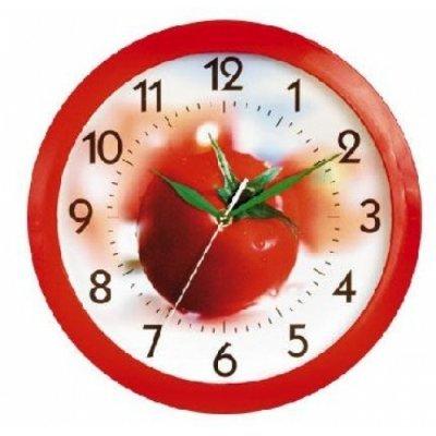 Часы настенные Вега П 1-1/7-57 (П 1-1/7-57)Часы настенные Вега <br>Помидор Кухня<br>