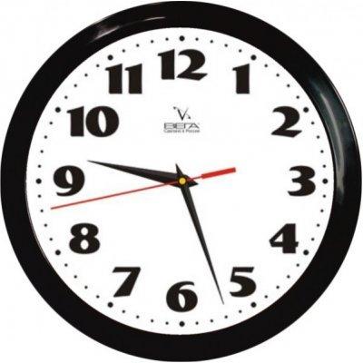 Часы настенные Вега П 1-6/6-45 (П 1-6/6-45)Часы настенные Вега <br>Черный кант Классика<br>