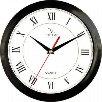 Часы настенные Вега П 1-6/6-47 (П 1-6/6-47)Часы настенные Вега <br>Черный Кант РИМСКИЕ Классика<br>