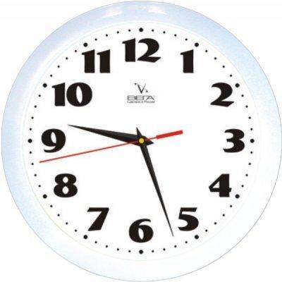 Часы настенные Вега П 1-7/7-45 (П 1-7/7-45)Часы настенные Вега <br>Белый Кант Классика<br>
