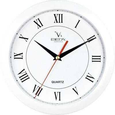 Часы настенные Вега П 1-7/7-47 (П 1-7/7-47)Часы настенные Вега <br>Белый Кант РИМСКИЕ Классика<br>