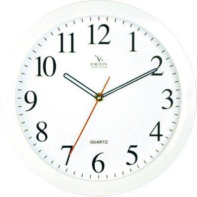 Часы настенные Вега П 1-7/7-7 (П 1-7/7-7)Часы настенные Вега <br>Белые арабские штрих Классика<br>