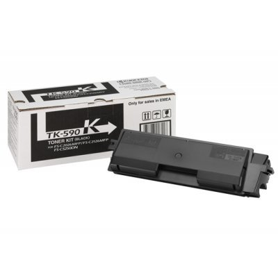 Тонер-картридж Kyocera TK-590K Black (1T02KV0NL0)Тонер-картриджи для лазерных аппаратов Kyocera<br>TK-590K 7 000 стр. Black для FS-C2026MFP/C2126MFP/C2526MFP/C2626MFP/C5250DN<br>