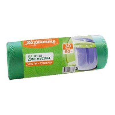 Пакеты для мусора Хозяюшка Мила 07019 (Мила 07019)Пакеты для мусора Хозяюшка Мила<br>Пакеты для мусора 30 л 80 штук в рулоне ХОЗЯЮШКА Мила<br>