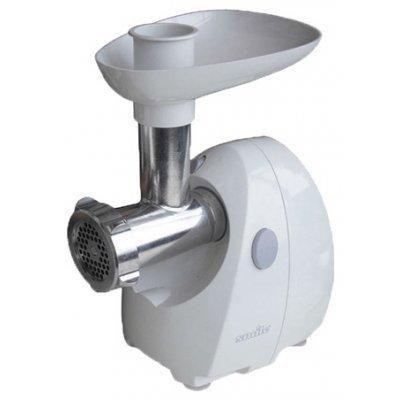 Мясорубка Smile KM 1160 (KM 1160)Мясорубки Smile <br>мощность 400 Вт, перерабатывает 1 кг/мин, насадка для шинковки, насадка для приготовления колбас, соковыжималка, корпус из пластика<br>