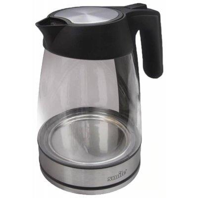 Электрический чайник Smile WK 2401 (WK 2401)Электрические чайники Smile <br>чайник, объем 1.7 л, мощность 3000 Вт, закрытая спираль, установка на подставку в любом положении, корпус из пластика и стекла, дисплей<br>