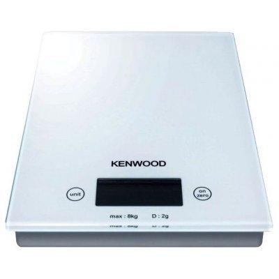 Кухонные весы Kenwood DS 401 White (DS 401)Весы кухонные Kenwood<br>электронные, платформа для взвешивания, нагрузка до 8 кг, точность измерения 2 г, автовыключение, стеклянная платформа<br>