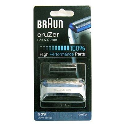 Режущий блок+сетка  Braun 2000 CruZer 20S (2000 (Сет+р.б))Сетки для бритвы Braun<br>Комплект сетка+режущий нож для бритв Braun CruZer 2000 серии ( 20S )<br>
