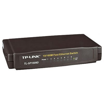 Коммутатор TP-Link TL-SF1008D (TL-SF1008D) коммутатор tp link tl sf1005d 5 port 10 100m mini desktop switch 5 10 100m rj45 ports plastic case