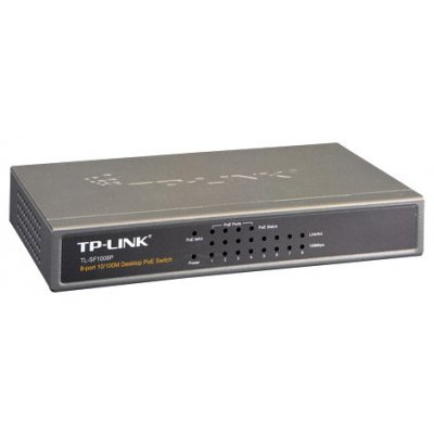 Коммутатор TP-Link TL-SF1008P (TL-SF1008P) коммутатор tp link tl sf1005d 5 port 10 100m mini desktop switch 5 10 100m rj45 ports plastic case