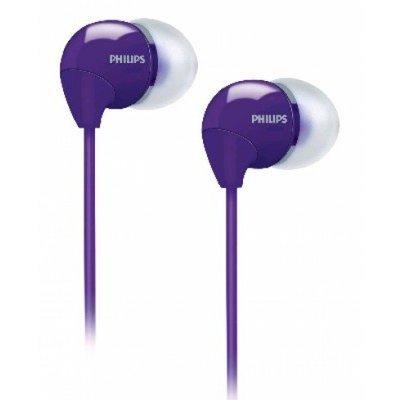 Наушники Philips SHE3590PP/10 (SHE3590PP/10)Наушники Philips<br>/ внутриканальные 12-23500Гц 1.2м 3.5мм 102дБ фиолетовые 3 комплекта сменных амбушюр<br>