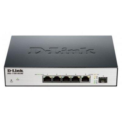 Коммутатор D-Link DGS-1100-06/ME/A1A (DGS-1100-06/ME/A1A)Коммутаторы D-Link<br>10/100/1000Base-T ports and 1 SFP port Metro CPE<br>