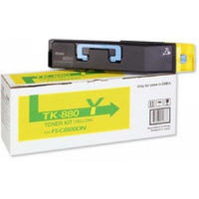 Тонер-картридж Kyocera TK-880Y Yellow для FS-C8500DN (1T02KAANL0)Тонер-картриджи для лазерных аппаратов Kyocera<br>TK-880Y 18 000 стр. Yellow для FS-C8500DN<br>