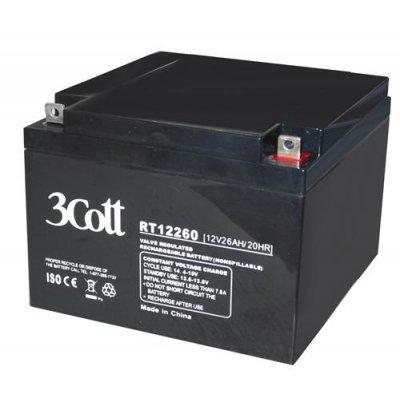 Аккумуляторная батарея для ИБП 3Cott 12V12Ah (12V12Ah)Аккумуляторные батареи для ИБП 3Cott<br><br>