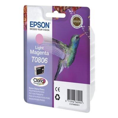 Картридж (C13T08064011) Epson T0806 светло-пурпурный для P50/PX660 (C13T08064011)Картриджи для струйных аппаратов Epson<br>light magenta<br>