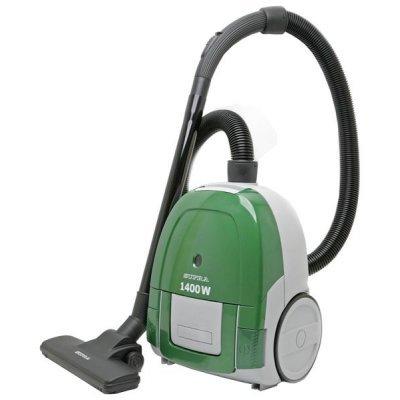 Пылесос Supra VCS-1475 зеленый (VCS-1475 зеленый)Пылесосы Supra<br>сухая уборка, с мешком для сбора пыли, работа от сети, мощность всасывания 350 Вт, потребляемая мощность 1400 Вт<br>