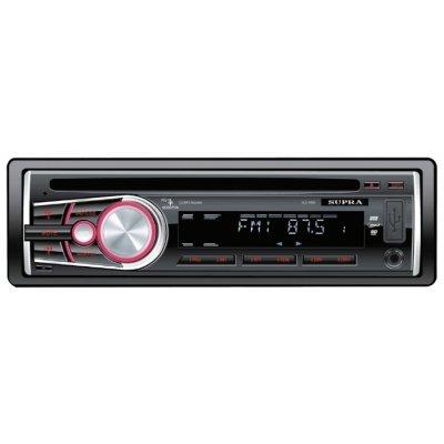 Автомагнитола Supra SCD-401U (SCD-401U)Автомагнитолы Supra<br>автомагнитола 1 DIN<br>CD-проигрыватель<br>макс. мощность 4 x 50 Вт<br>воспроизведение с USB<br>аудиовход на передней панели<br>радиоприемник с RDS<br>поддержка карт памяти SD<br>