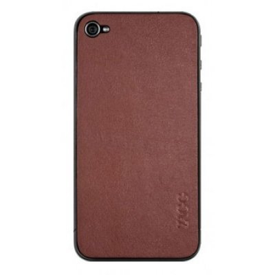�������� ZAGG LEATHERskin ��� iPhone 4/4S brown (LSBRNZAGG73)