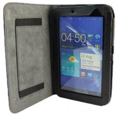 Чехол IT Baggage ITSSGT7208-4 для Samsung Galaxy tab 7.0 P3100 черный/синий (ITSSGT7208-4)Чехлы для планшетов IT Baggage<br>искус. кожа Jeans<br>