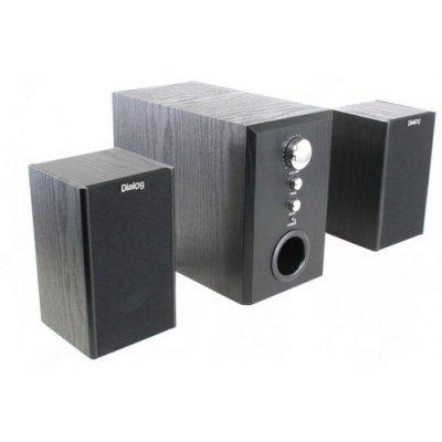 Колонки Dialog W-3000 черный (W-3000 Black)Компьютерная акустика Dialog<br>60W,RMS-2.1<br>