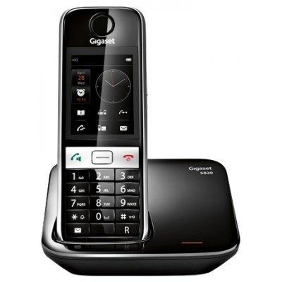 Радиотелефон Siemens Gigaset S820 черный (S30852-H2404-S301)Радиотелефоны Siemens<br>DECT, Cенсорный, цветной, АОН<br>