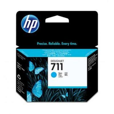 Картридж HP №711 (CZ130A) для Designjet T120/T520, 29мл, голубой (CZ130A)Картриджи для струйных аппаратов HP<br><br>