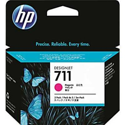 Картридж HP №711 (CZ131A) для Designjet T120/T520, 29мл, пурпурный (CZ131A)Картриджи для струйных аппаратов HP<br><br>