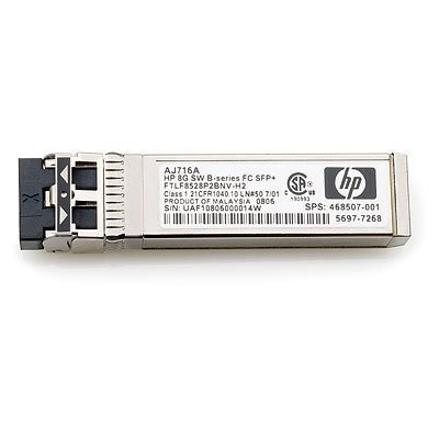 Трансивер HP 8Gb Short Wave Transceiver Kit (AJ716B) (AJ716B) трансивер hp mds 9000 8gb fc sfp short range xcvr aj906a