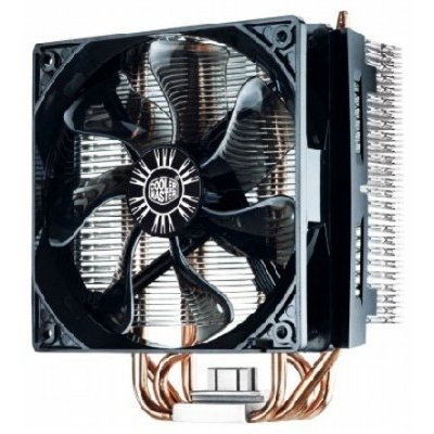 Вентилятор Cooler Master Hyper T4 (RR-T4-18PK-R1) (Intel: LGA 2011/1156/1155/775; AMD: FM1/AM3+/AM3/AM2+/AM2) (RR-T4-18PK-R1)Кулеры для процессоров CoolerMaster<br>TDP 140-160 Вт, вентилятор 120x120x25 мм, 4 пин, PWM, 600-1800 об/мин, 34.2 - 77.7 CFM, 15.1-31.6 dBA<br>