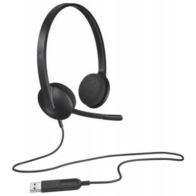 Гарнитура Logitech Headset H340 Stereo (981-000475) (981-000475)Компьютерные гарнитуры Logitech<br>USB<br>