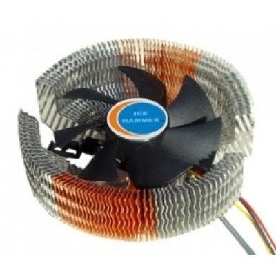 Кулер для процессора Ice Hammer IH-3476WV (IH-3476WV)Кулеры для процессоров Ice Hammer<br>SocketAM2/939/LGA775/1366, AlCu, 20-28 dB<br>