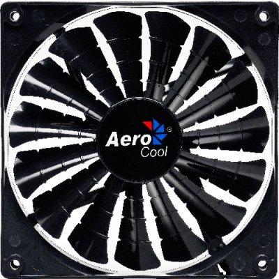 Система охлаждения Aerocool Shark Evil Black Edition (EN55444) (EN55444)Системы охлаждения корпуса ПК Aerocool<br>12см  для корпуса (оранж. подсветка), 3+4 pin, 32.5 CFM, 800 RPM, 12.6 dBA<br>