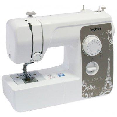 Швейная машина Brother LX-1700 (LX-1700)Швейные машины Brother<br>/ 17 операций, горизонтальный челнок, петля-полуавтомат, светодиодная подсветка<br>