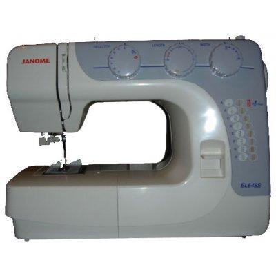 Швейная машина Janome EL545S (EL545S)Швейные машины Janome<br>/ 17 операций, петля автомат, плавная регулировка длины и ширины, классический челнок, цвет: серый<br>