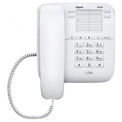 Проводной телефон Siemens Gigaset DA310 белый (Gigaset DA310 white) радиотелефон gigaset da310 white проводной s30054 s6528 s302